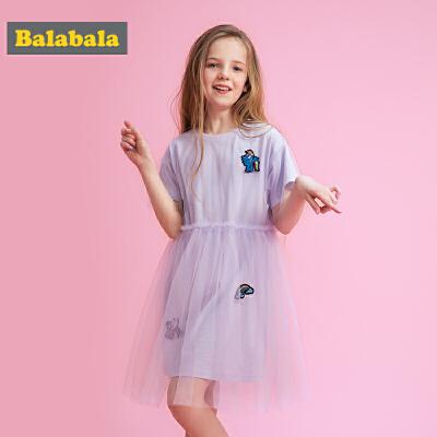 巴拉巴拉女童夏装新款女孩连衣裙儿童裙子 49.9元