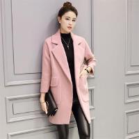 毛呢外套女秋冬季新款韩版名媛气质西装茧型优雅呢子大衣显瘦