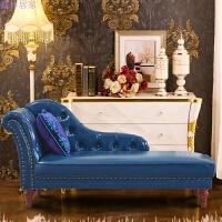 贵妃椅躺椅沙发欧式美式小户型卧室阳台皮质懒人沙发单人榻
