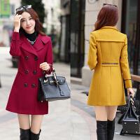 冬季优雅气质女装30-40-50岁中年妈妈修身中长款毛呢外套呢子大衣