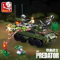 哥斯拉2兼容异形铁血战士拼装男孩子飞龙积木玩具恐龙