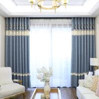 窗帘成品简约现代遮光卧室客厅地中海飘窗布清新北欧ins简欧风格