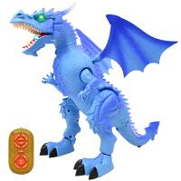 模型儿童塑胶大号仿真遥控霸王龙动物套装男孩电动恐龙玩具侏罗纪