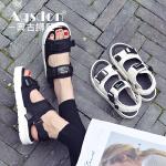 奥古狮登夏季新款百搭平底舒适女鞋学生凉鞋简约沙滩鞋子女夏