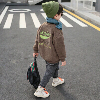 童装男童秋冬装外套儿童开衫洋气中大童加绒上衣