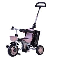 儿童三轮车脚踏车宝宝脚蹬车轻便折叠婴幼儿手推车1-3周岁