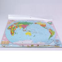 磁乐宝拼图世界地图 少儿益智拼图新版赠DIY贴画5-6-8岁地理知识学习认识34省及世界版图启蒙儿童玩具