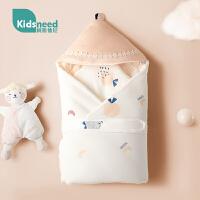 新生儿婴儿抱被初生包被秋冬加厚冬季纯棉四季通用包裹被外出厚款