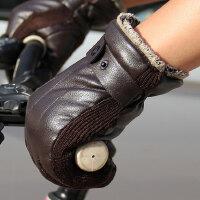 男士皮手套 男冬骑车摩托车 冬季骑行保暖防水防风加绒加厚韩版手套