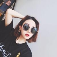 韩版多边形防紫外线墨镜女 新款镜面时尚圆脸太阳镜街拍潮