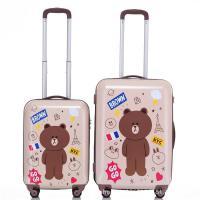 中小学生卡通可爱拉杆箱小熊宝宝旅行箱男孩女孩行李箱儿童登机箱 如图卡通色