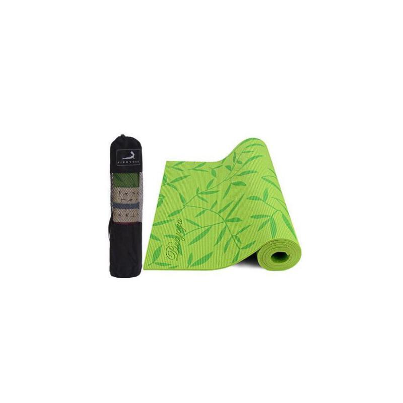 户外运动垫瑜伽垫6mmPVC印花无味防滑垫运动减肥加厚初学者 品质保证 售后无忧  支持货到付款