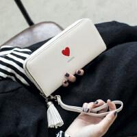 女士手拿钱包女长款户外韩版拉链多功能长款大容量皮夹