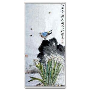 萧朗    《水仙花开》
