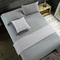 凉而不冰 老粗布凉席三件套夏季棉亚麻棉加密厚单件床单