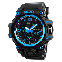 男士大表盘防水电子手表时尚多功能户外运动潮流男学生腕表