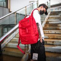 户外运动双肩包男旅行背包潮牌时尚潮流单肩包运动大容量校园bf风书包
