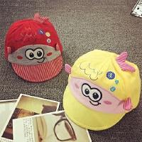 宝宝帽子0-3-6个月婴儿帽夏天遮阳帽棒球帽胎帽春秋男女儿童帽子