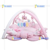 婴儿健身架钢琴0-12-18月宝宝音乐游戏毯新生儿玩具 粉色kitty 钢琴版