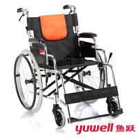 鱼跃(YUWELL) 轮椅 折叠老人轻便残疾人代步车H053C 铝合金可折背
