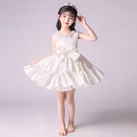 儿童公主裙女孩蓬蓬纱婚纱裙花童小主持人晚礼服钢琴演出服夏季