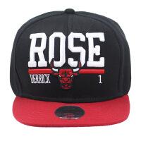 芝加哥公牛队达人帽 运动平檐帽宽檐帽 黑色红檐