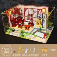 diy小屋手工制作房子模型建筑拼装迷你别墅创意公主房玩具女