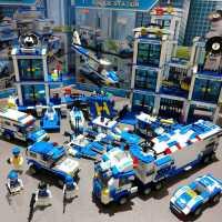 儿童积木拼装玩具益智力5岁男孩子6小颗粒动脑拼图车7�犯�8警察9