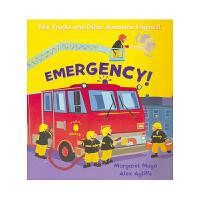 Awesome Engines Emergency 儿童急救启蒙认知英语绘本 超棒的车辆系列 消防车 英国小王子同款车辆