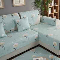 家纺 2017秋冬新款坐垫全棉布艺沙发垫现代简约全包沙发巾坐垫
