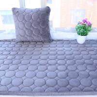 定做四季加厚防滑海绵毛绒窗台垫榻榻米坐垫卡座垫毯沙发垫 灰色 加厚圆圈