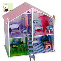 大型拼装别墅男孩女生公主生日礼物小屋手工制作房子模型建筑