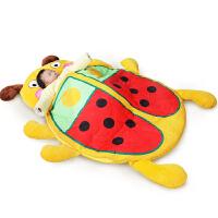 男孩婴儿睡袋秋冬季防踢被子儿童小孩一岁宝宝睡袋加厚防蹬中大童 戏水玩具 甲虫睡袋 105cm