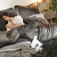 床上四件套天鹅绒冬季珊瑚绒1.8m床笠加厚保暖床单双面被套法兰绒