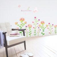 温馨浪漫卧室床头客厅电视可移除花卉沙发背景墙贴纸贴画清新花朵 小花 特大