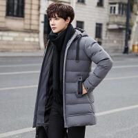 男士外套冬季棉衣中长款韩版韩流加厚保暖棉袄子男装羽绒棉服冬装