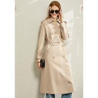 【券后预估价:288元】Amii英伦风帅气风衣裙子两穿女2020春新款经典流行中长款外套大衣