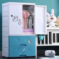 加厚儿童衣柜双开门收纳柜子抽屉式五斗柜宝宝衣服婴儿简易储物柜