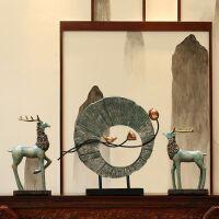 中式摆件办公室玄关电视柜酒柜样板房软装工艺术品欧式家居装饰品