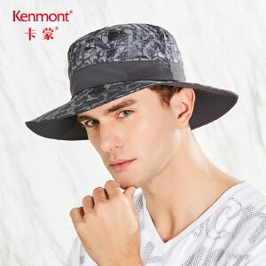卡蒙防泼水速干帽子迷彩渔夫帽遮阳帽防紫外线男士夏季户外太阳帽3511