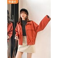 七格格牛仔外套女短款2019新款春秋季韩版宽松bf百搭复古工装夹克