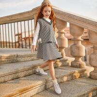 女童套装裙时髦大童儿童装女孩衣服两件套