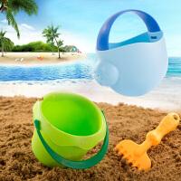 水桶洗澡男孩女宝宝小孩挖沙子婴儿软胶沙滩玩具套装幼儿童玩