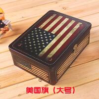 可以上锁的箱子铁盒长方形带锁的收纳箱子半岛铁皮零食储物 金色 美国(大号)