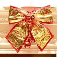 圣诞大号蝴蝶结 装饰品 圣诞装饰场景 圣诞树挂件 圣诞布艺蝴蝶结