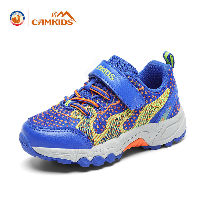 CAMKIDS女童鞋 男童登山鞋2017秋季新款儿童运动鞋减震防滑尾品汇大促