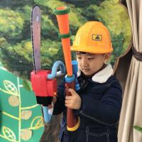 儿童可发射电动打猎枪男孩子 熊出没玩具枪套装仿真光头强电锯帽子