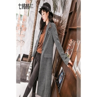 大衣女士秋冬季中长款韩国新款毛呢外套韩版ulzzang学生西装