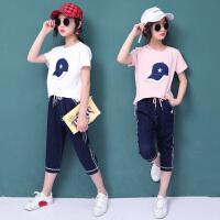 女童夏装新款套装女孩韩版时尚中大童夏季洋气短袖