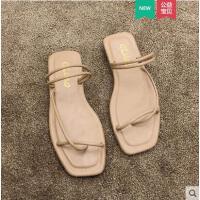 拖鞋女平底外穿时尚款街头日系新款ins简约百搭罗马鞋套趾潮
